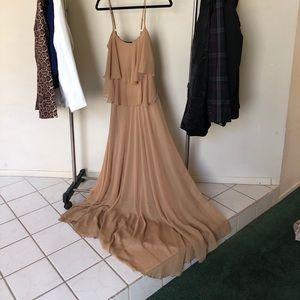 Dresses & Skirts - Tan Chelsea maxi dress